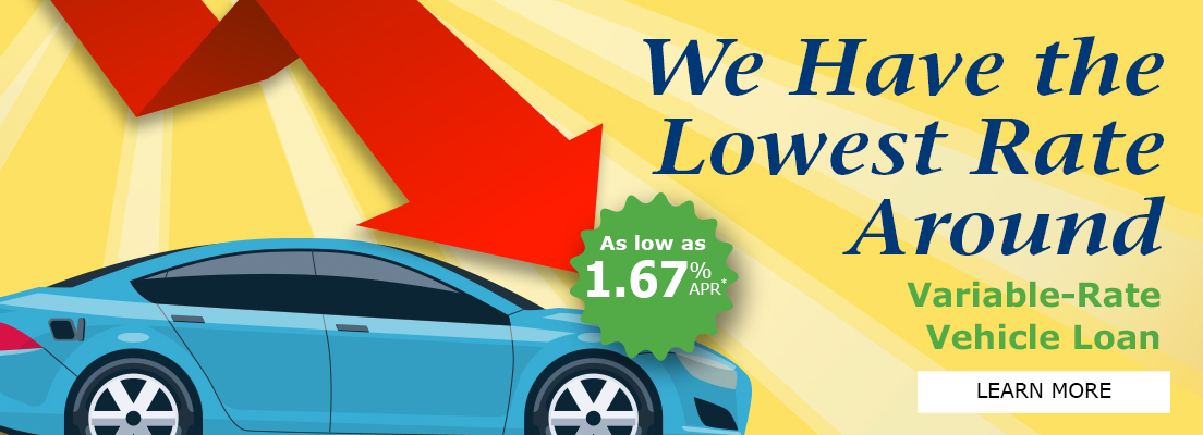 We Have The Lowest Vehicle Loan Rates Around!