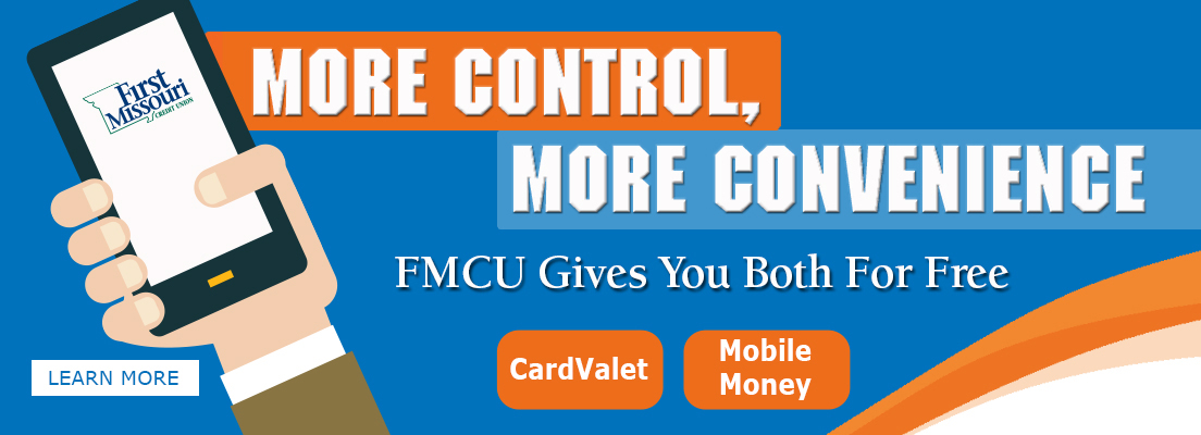 More Control, More Convenience -- our Mobile Banking gives you Bothe For Free!